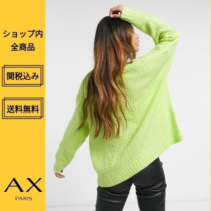 Crew Neck Cable Knit Casual Style Long Sleeves Plain Medium