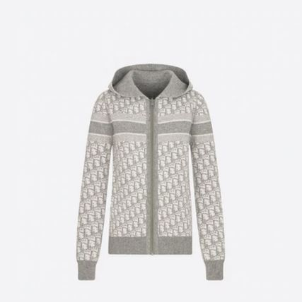 Christian Dior DIOR OBLIQUE Reversible Zipped Cardigan With Hood