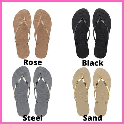 Open Toe Rubber Sole Casual Style Plain Sport Sandals