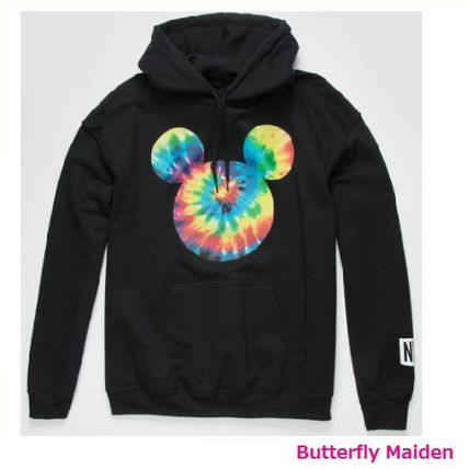 Tie-dye Collaboration Cotton Street Style Hoodies