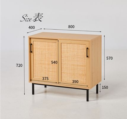 Modern House Unisex Wooden Furniture Rattan Furniture Make-up Organizer