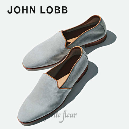 Suede Plain Leather Loafers & Slip-ons