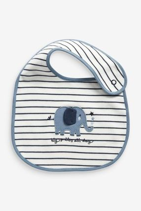 NEXT Organic Cotton Baby Boy Bibs & Burp Cloths