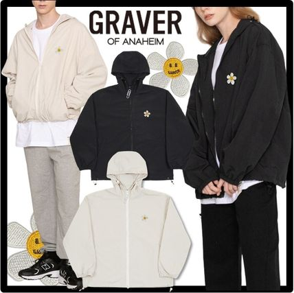 GRAVER Casual Style Unisex Street Style Outerwear
