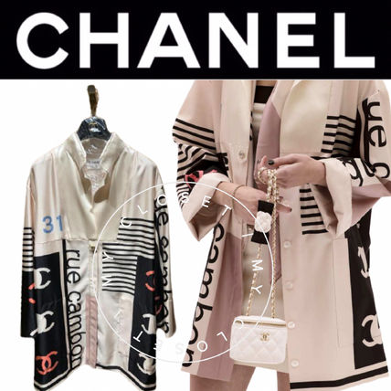 CHANEL ICON Casual Style Street Style Plain Medium Handmade Party Style