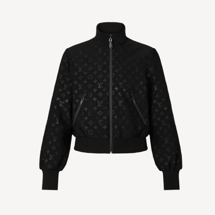 Louis Vuitton Embossed Monogram Zip-Up Jacket