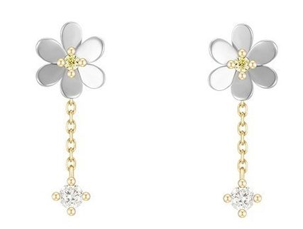 Casual Style Office Style 14K Gold Earrings
