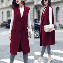 Casual Style Street Style Plain Long Office Style Vests