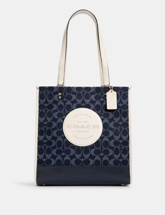 Coach Dempsey Tote In Signature Jacquard With Patch