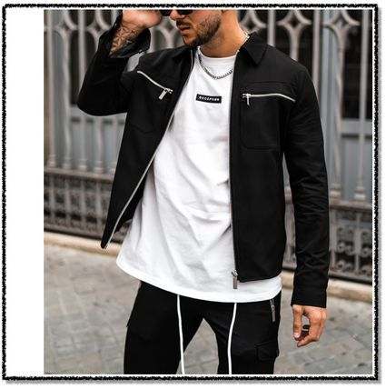 DECEPTION Long Sleeves Street Style Tops