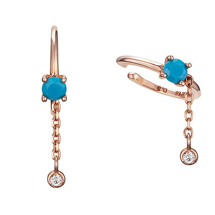 Casual Style With Jewels 14K Gold Single Ear cuff