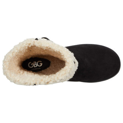 G BY GUESS Casual Style Faux Fur Logo Boots Boots