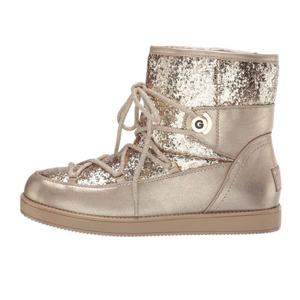 G BY GUESS Round Toe Rubber Sole Casual Style Faux Fur Logo Boots Boots