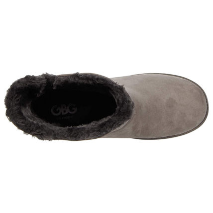 G BY GUESS Round Toe Casual Style Faux Fur Logo Boots Boots