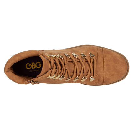 G BY GUESS Lace-up Casual Style Logo Lace-up Boots