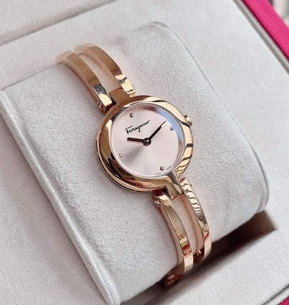Salvatore Ferragamo Casual Style Party Style Quartz Watches Jewelry Watches