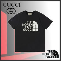 GUCCI Crew Neck Pullovers Street Style Plain Cotton Short Sleeves