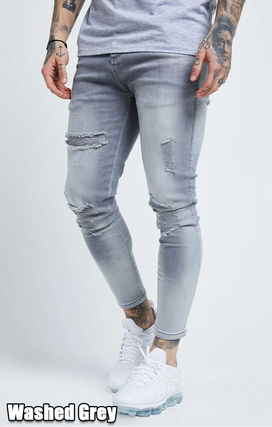 Denim Street Style Plain Cotton Skinny Jeans