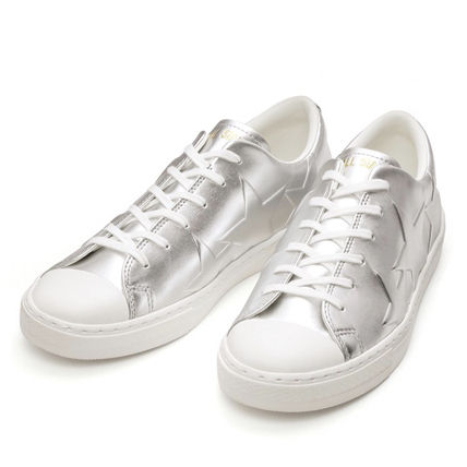 CONVERSE ALL STAR Star Unisex Street Style Plain Leather Logo Metallic