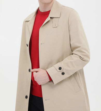 Tommy Hilfiger Plain Long Trench Coats