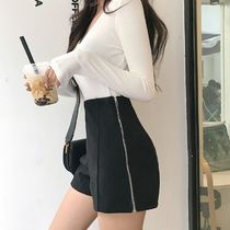 Short Casual Style Wool Plain Office Style Shorts