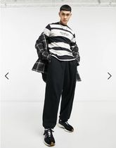 ASOS Long Sleeve Crew Neck Pullovers Stripes Street Style Long Sleeves Cotton 5
