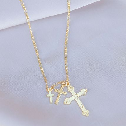 Casual Style Cross Chain Brass 18K Gold Elegant Style Bridal