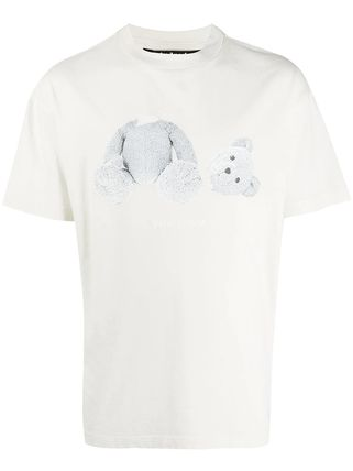 Palm Angels Unisex Street Style Cotton Logo T-Shirts