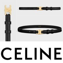 CELINE Triomphe Small Triomphe Belt In Smooth Calfskin