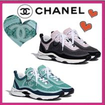 CHANEL SPORTS Casual Style Unisex Suede Tweed Bi-color Plain
