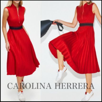 Casual Style Sleeveless Party Style Office Style