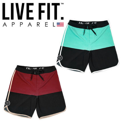 Live Fit More Shorts Street Style Bi-color Shorts
