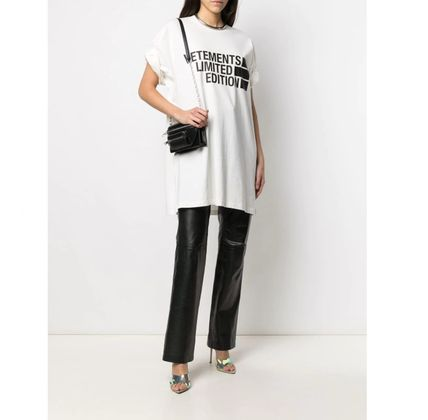 VETEMENTS Unisex Street Style Cotton Short Sleeves Oversized Logo