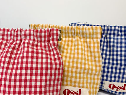 Ossl Pouches & Cosmetic Bags Gingham Pouches & Cosmetic Bags 3