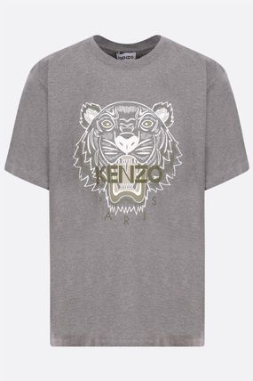 KENZO Crew Neck Other Animal Patterns Cotton Short Sleeves Logo