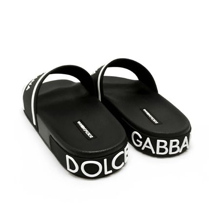 Dolce & Gabbana Logo Shower Shoes Shower Sandals