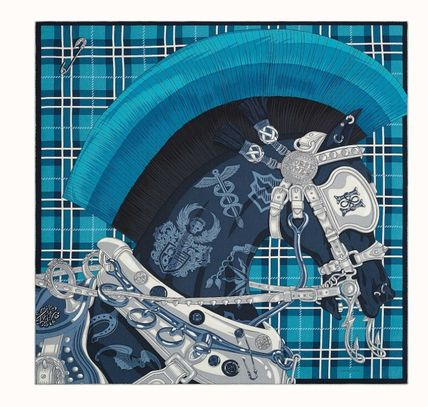HERMES Cheval Punk Scarf 100