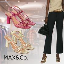 Max&Co. Open Toe Casual Style Plain Block Heels Party Style