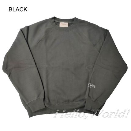FEAR OF GOD ESSENTIALS Crew Neck Cable Knit Sweat Blended Fabrics Street Style