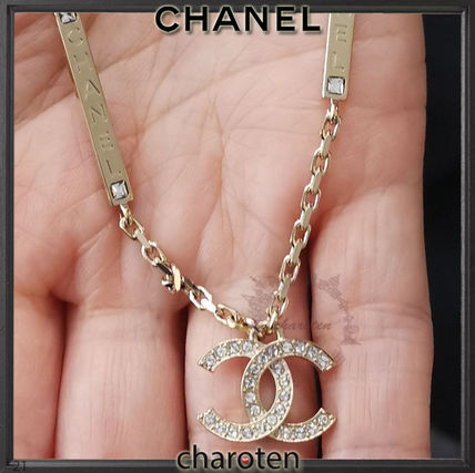 CHANEL ICON Costume Jewelry Casual Style Blended Fabrics Flower