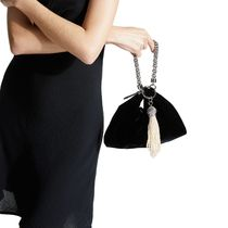 Jimmy Choo 2WAY Chain Plain Party Style Elegant Style Clutches