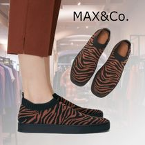 Max&Co. Zebra Patterns Rubber Sole Casual Style Blended Fabrics