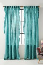 Anthropologie Dots Unisex Fringes Icy Color Curtains