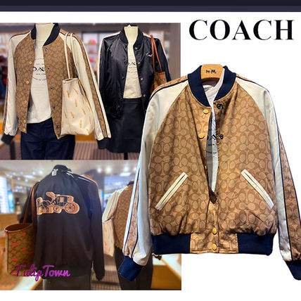 Coach SIGNATURE Reversible Souvenir Jacket With Horse And Carriage