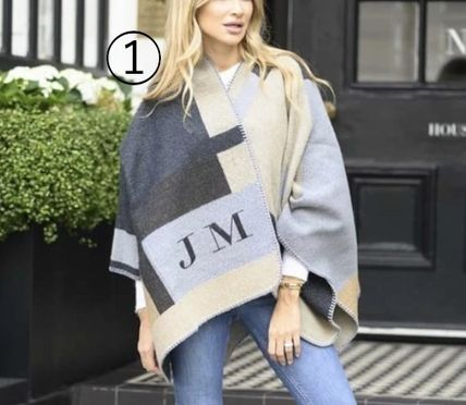 Lily and Bean Wool Cashmere Plain Medium Loungewear Ponchos & Capes