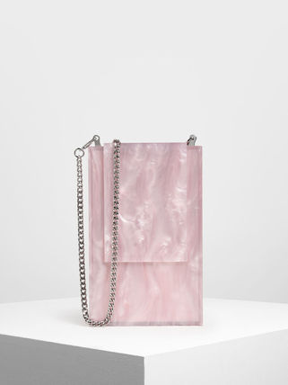 Charles&Keith Crossbody Formal Style  Bridal Casual Style Bag in Bag Chain