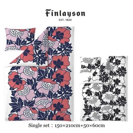 Finlayson Duvet Covers Flower Patterns Unisex Pillowcases Comforter Covers