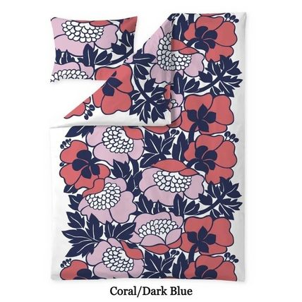Co-ord Scandinavian Style Flower Patterns Unisex Pillowcases