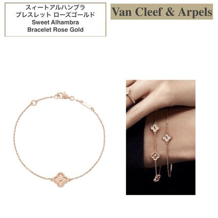 Van Cleef & Arpels Sweet Alhambra Casual Style Party Style 18K Gold Elegant Style