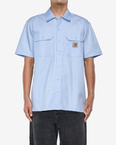 Carhartt Shirts Other Plaid Patterns Street Style Cotton Short Sleeves Logo 5